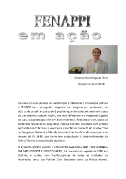 Antonio Maciel Aguiar Filho Presidente da FENAPPI Pautada em