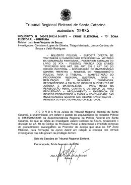 Scanned Document - Tribunal Regional Eleitoral de Santa Catarina