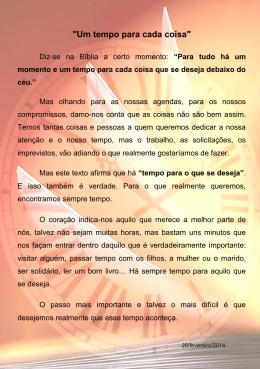 """""""Um tempo para cada coisa"""" - Externato Marista de Lisboa"""