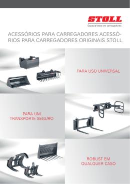 ACESSÓRIOS PARA CARREGADORES ACESSÓ- RIOS