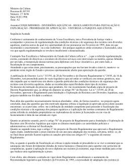 DIVERSÕES AQUÁTICAS - Provedor de Justiça