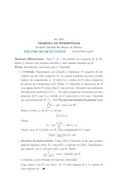 O Teorema de Weierstrass - IME-USP