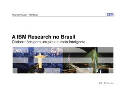 A IBM Research no Brasil