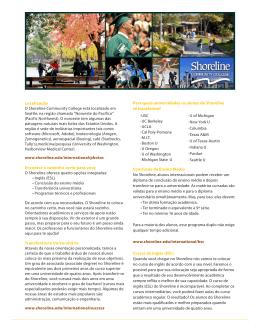 Para quais universidades os alunos do Shoreline se transferem