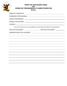 Teste AvalSRG-R. - Associação dos Criadores de Gado Jersey do
