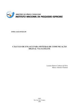 cálculo de enlace para sistemas de comunicação digital via satélite
