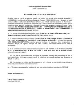 Ato Administrativo nº 0174 - 1º convocação - ENTREGA