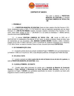 Contrato 346-2014 - GOIATUBA TINTAS - PMG