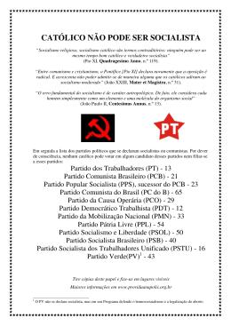 CATÓLICO NÃO PODE SER SOCIALISTA