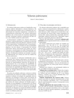 Volumes pulmonares - Jornal Brasileiro de Pneumologia