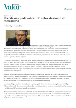 Receita não pode cobrar IPI sobre desconto de mercadoria