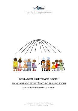 planejamento estratégico do serviço social - ajes - pós