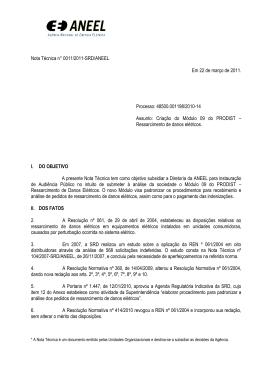Nota Técnica n° 0011/2011