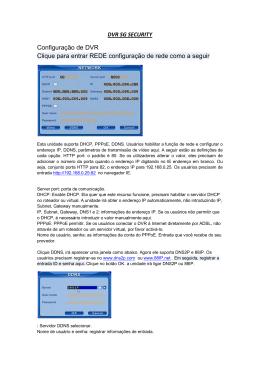 Configuração de DVR Clique para entrar REDE