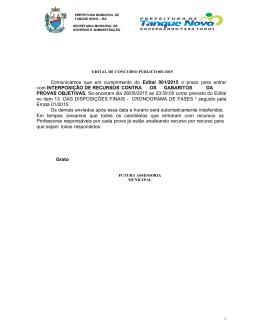 comunicado 29/05/2015 - Futura Assessoria Municipal