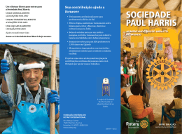 SOCIEDADE PAUL HARRIS - Rotary International