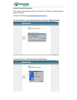 Manual Sicoobnet Empresarial Para acessar o