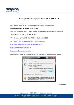 Instalação/Configuração do cliente GO