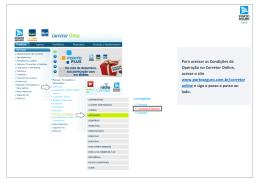 Para acessar as Condições de Operação no Corretor Online