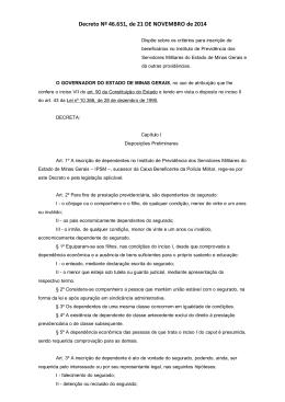 Decreto Nº 46.651, de 21 DE NOVEMBRO de 2014