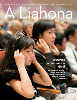 Novembro de 2014 A Liahona - The Church of Jesus Christ of Latter