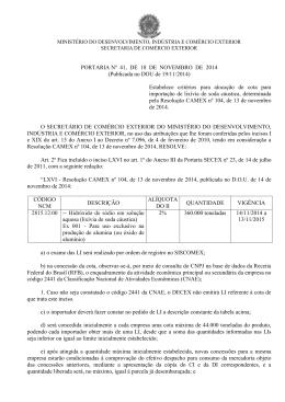 portaria secex n° 41, de 18 de novembro de 2014