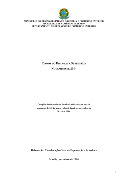 Novembro de 2014 - Ministério do Desenvolvimento, Indústria e