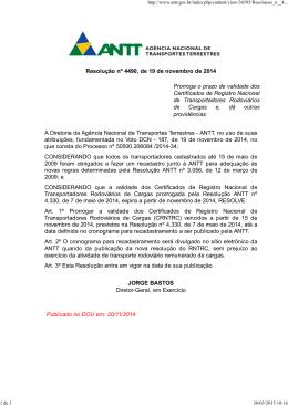 Resolução nº 4490, de 19 de novembro de 2014 Prorroga