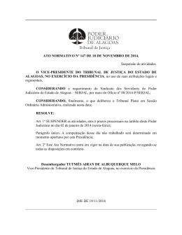 ATO NORMATIVO Nº 147 DE 18 DE NOVEMBRO DE 2014