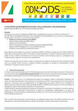 BELO HORIZONTE 3 A 5 DE NOVEMBRO DE 2014