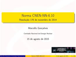 Norma CNEN-NN-6.10 - Resolução 176 de novembro de 2014