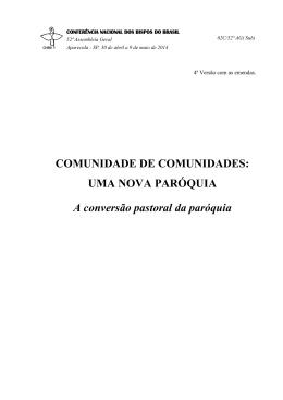 COMUNIDADE DE COMUNIDADES: UMA NOVA PARÓQUIA A