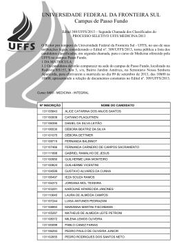 UNIVERSIDADE FEDERAL DA FRONTEIRA SUL Campus