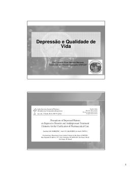 Depressão e Qualidade de Vida - Unifal-MG