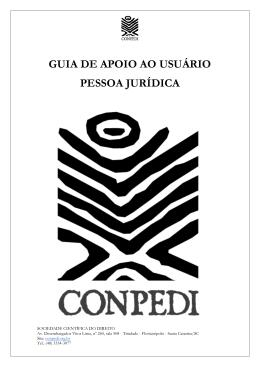 GUIA DE APOIO AO USUÁRIO PESSOA JURÍDICA