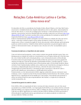 Relações Cuba-América Latina e Caribe. Uma nova era?