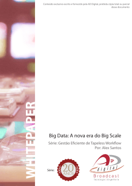 Big Data: A nova era do Big Scale - AD
