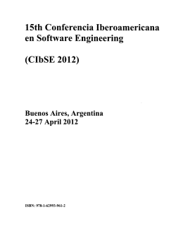 15th Conferencia Iberoamericana on Software Engineering