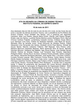 1. ATA 16_05_2011 - Instituto Federal do Espírito Santo