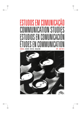 número #9 - Communication Studies/Estudos em