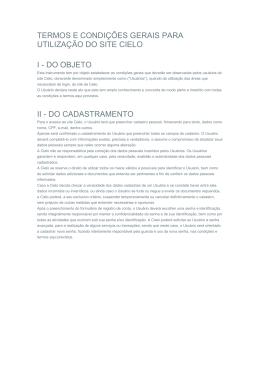 termos e condições gerais para utilização do site cielo i