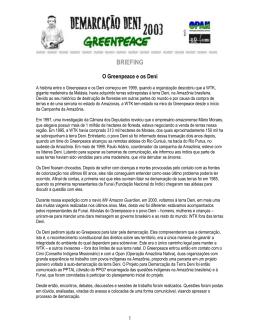 BRIEFING - Greenpeace   Brasil