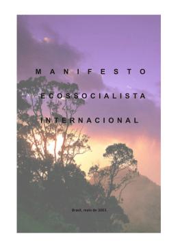 Manifesto Ecossocialista: Internacional