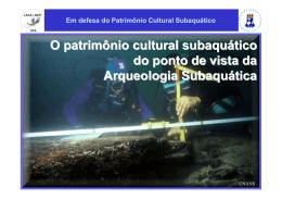 Em defesa do Patrimônio Cultural Subaquático