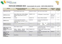 FESTA DO CERRADO 2015 - Apresentações das escolas – SEXTA