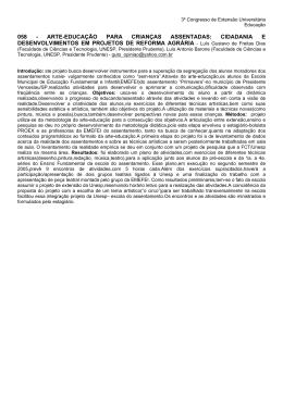 ARTE-EDUCAÇÃO PARA CRIANÇAS ASSENTADAS