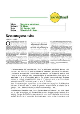Desconto para todos - Instituto Acende Brasil