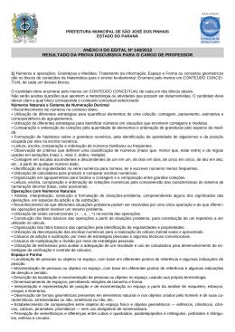 Anexo II do Edital nº 140/2012 - Resultado da Prova Discursiva para o