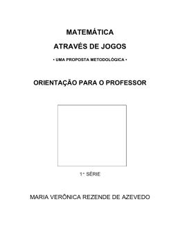 MATEMÁTICA ATRAVÉS DE JOGOS