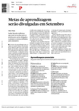 Press Clipping - Universidade de Lisboa